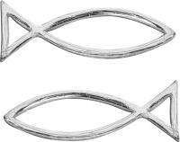 Wachsfisch 40x13mm silber 2er