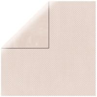 Scrapbookingpapier Double Dot muschelrosa