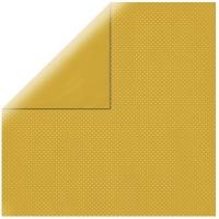 Scrapbookingpapier Double Dot honiggelb