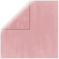Scrapbookingpapier Double Dot babyrosa