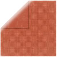 Scrapbookingpapier Double Dot poppy / ziegelrot