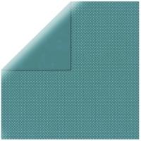 Scrapbookingpapier Double Dot dunkeltürkis