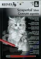 Gravurfolie silber Kätzchen
