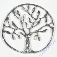 Metallteil Baum silber