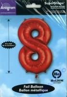 Folien-Ballon 8 rot 86cm