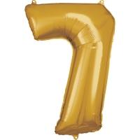 Folien-Ballon 7 gold 86cm
