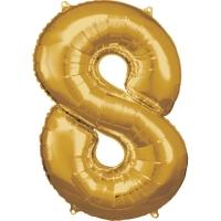 Folien-Ballon 8 gold 86cm
