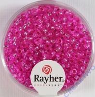 Rocailles 2,6mm ø mit Silbereinzug pink