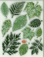Silikon-Stempel Blätter