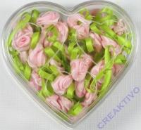 Stoffrose mit Schleife - rosa