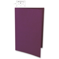 Karte B6 232x168mm 220g purple velvet