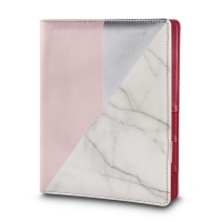 Planer A5 rosa/silber/marmor