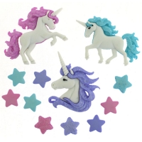 Dress it up Deko-Knöpfe - Magical Unicorns