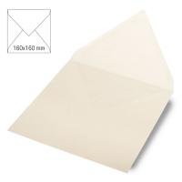 Kuvert quadratisch, uni, FSC Mix Credit elfenbein