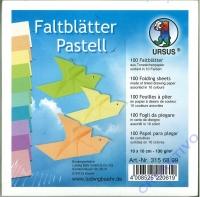 Faltblätter 10x10cm pastell