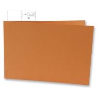 25 Karten B6 quer 232x168mm 220g mandarine (Restbestand)