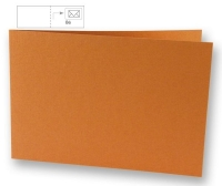 25 Karten B6 quer 232x168mm 220g dunkelorange (Restbestand)