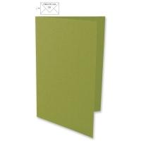 25 Karten A6 210x148mm 220g olive (Restbestand)