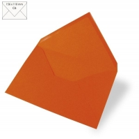 25 Kuverts C6 156x110mm 90g orange (Restbestand)