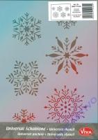Universal-Schablone Schneeflocken
