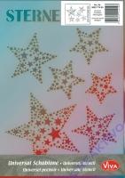 Universal-Schablone Sternenglanz