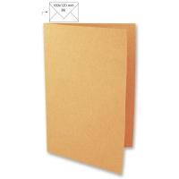 25 Karten B6 232x168mm 220g mandarine (Restbestand)