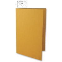 25 Karten B6 232x168mm 220g dunkelorange (Restbestand)