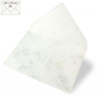 25 Kuverts B6 180x120mm 90g marmor weiß
