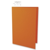 25 Karten A5 297x210mm 220g orange (Restbestand)
