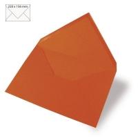 25 Kuverts A5 220x156mm 90g orange (Restbestand)
