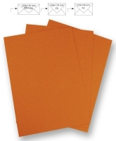 50 Briefbogen A4 210x297mm 90g orange (Restbestand9