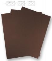 50 Briefbogen A4 210x297mm 90g dunkelbraun (Restbestand)