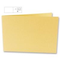 25 Karten B6 quer 232x168mm 220g mango (Restbestand)