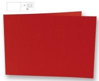25 Karten B6 quer 232x168mm 220g klassikrot (Restbestand)