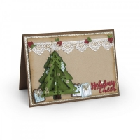 Sizzix Thinlits Die Set 9PK - Christmas Tree, Flip & Fold