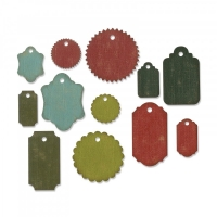 Sizzix Thinlits Die Set 12PK - Gift Tags