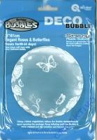 Deco Bubble Elegant Roses & Butterflies 24 61cm