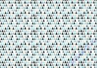 Motiv-Fotokarton Tanne 50x70cm blau/roségold