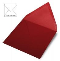 25 Kuverts quadratisch perlmutt 140x140mm 120g bordeaux (Restbestand)