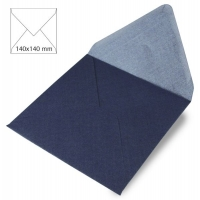 25 Kuverts quadratisch perlmutt 140x140mm 120g royalblau (Restbestand)