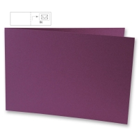 Karte B6 quer 232x168mm 220g purple velvet