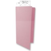 Karte DIN lang 210x210mm 220g rosé