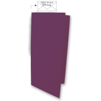 Karte DIN lang 210x210mm 220g purple velvet