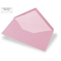 Kuvert DIN lang 220x110mm 90g rosé