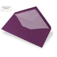 Kuvert DIN lang 220x110mm 90g purple velvet