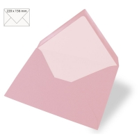 Kuvert A5 220x156mm 90g rosé