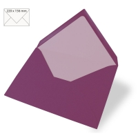 Kuvert A5 220x156mm 90g purple velvet