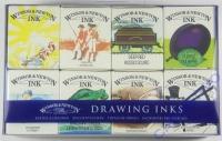 Zeichentuschen Set mit 8 Farben