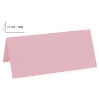 Tischkarte doppelt 100x90mm 220g rosé