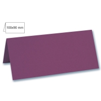 Tischkarte doppelt 100x90mm 220g purple velvet